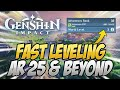 - How To FAST LEVEL After AR 25! What You Need To Know! Genshin Impact