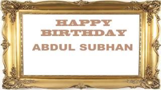 AbdulSubhan   Birthday Postcards & Postales - Happy Birthday