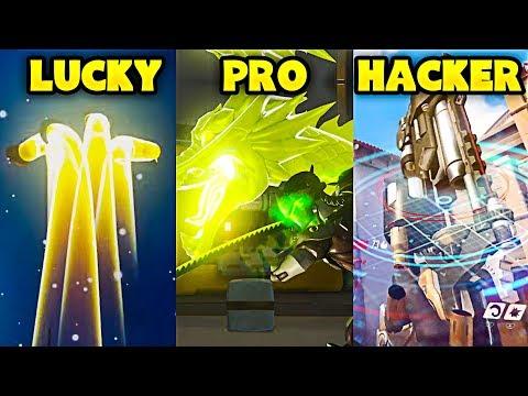 LUCKY vs PRO vs HACKER - Overwatch Pro + Funny Moments #25