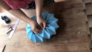 Origami lampshade how to by jeedwonder