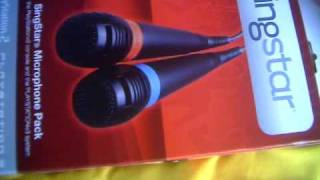 Singstar wired microphones for Playstation 2 & 3 Unboxing