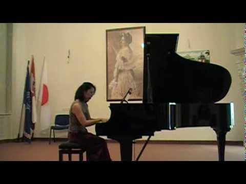 """Dora Pejačević ~Flowers' Life Op.19-1.Snowdrops"""" (Pf. Keiko Nishizu)"""
