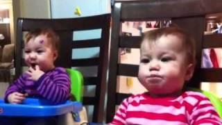 Baby Keauni blowing raspberries