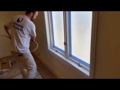 How To Professionally Spray Paint Windows