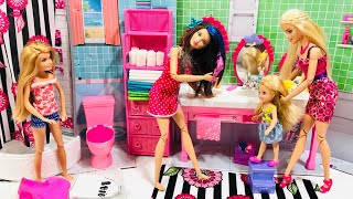 Barbie Chelsea Stacie Skipper School Morning Routine Crazy Hair Day Chelsea Bedroom Part 1