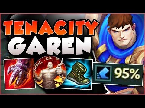 WTF! HOW INSANE IS 95% TENACITY ON GAREN?? TENACITY GAREN SEASON 8 TOP GAMEPLAY! - League of Legends