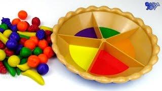 Aprender los colores Frutas Clasificando Frutas. Aprenda las puntuaciones de color