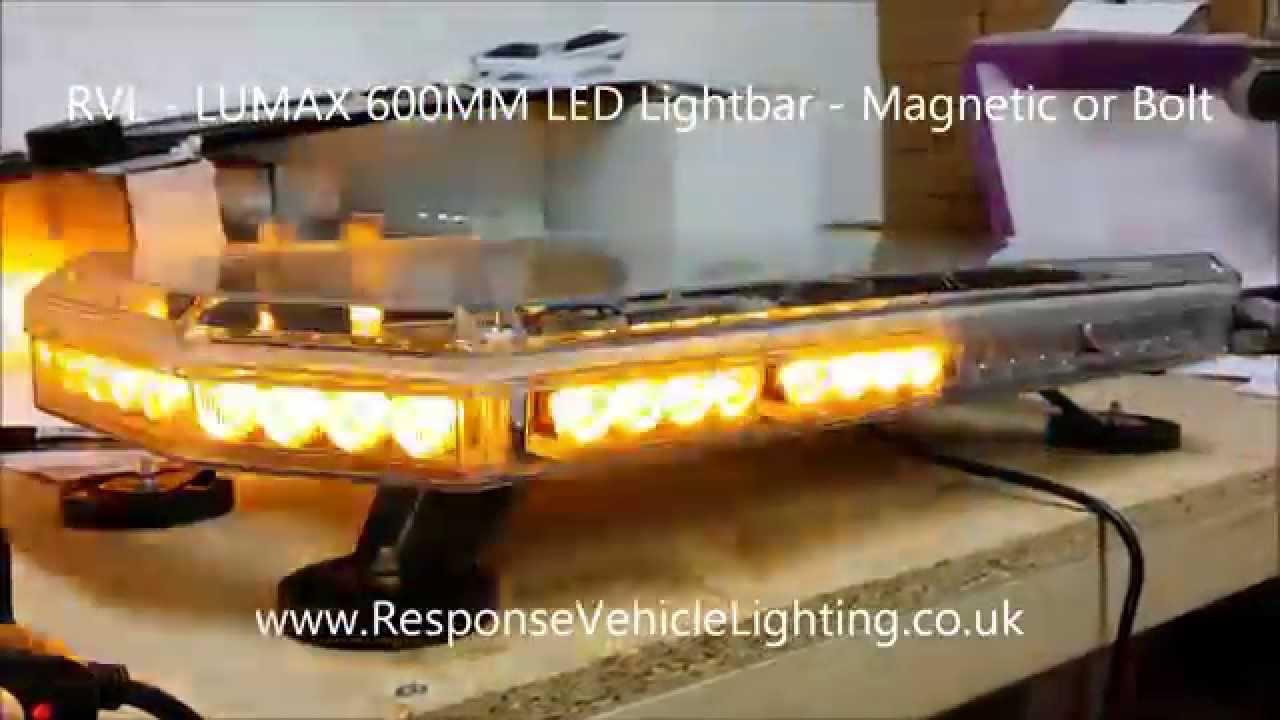 Rvl Lumax Led Lightbar Magnetic Or Bolt 12 24v 600mm