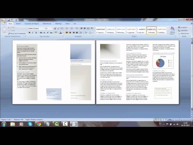 como fazer um folheto desdobrável no microssoft word