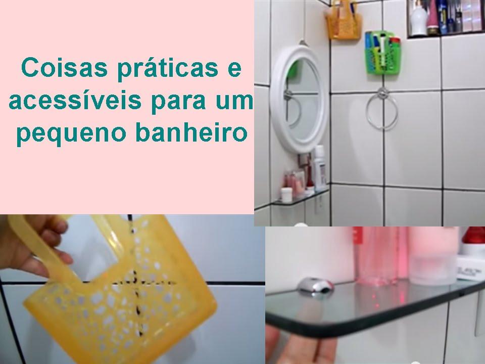 Faca Voce Mesmo Coisas Para O Quarto ~ Coisas pr?ticas para um pequeno banheiro  YouTube