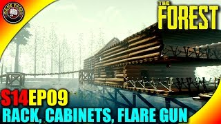 The Forest Gameplay - Wall Weapons Rack, Medicine Cabinets, Flare Gun - S14EP09 (Alpha V0.32)