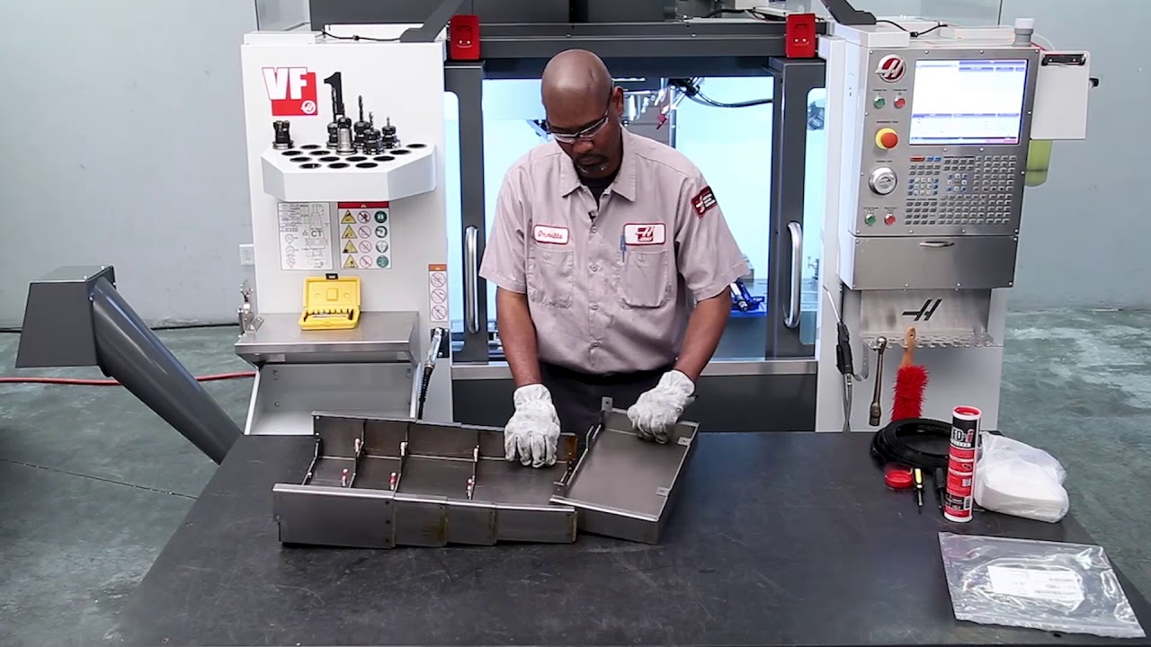 X-Axis Mill Waycover Replacement - Haas Automation Service on