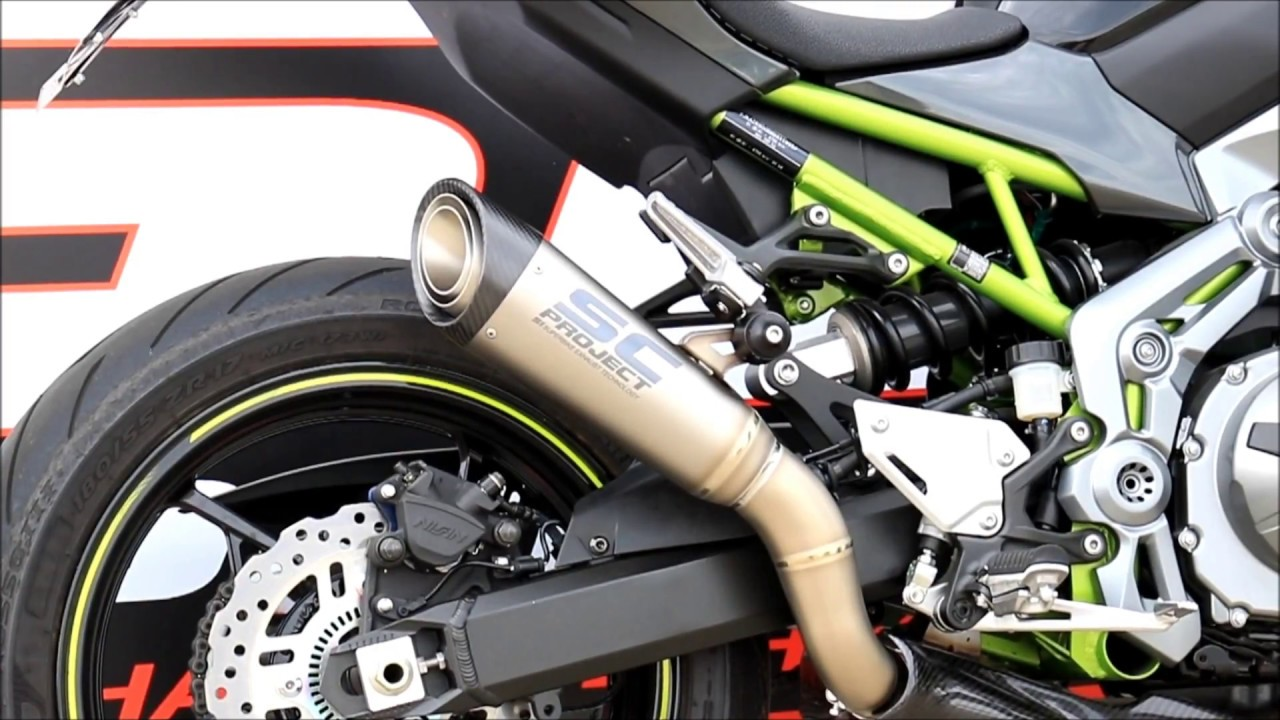 sc project s1 muffler for kawasaki z900 youtube. Black Bedroom Furniture Sets. Home Design Ideas