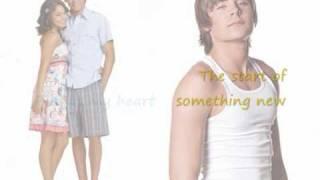 Vanessa Hudgens and Zac Efron, Start of something new, lyrics