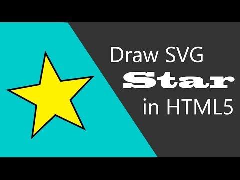 Draw SVG Star In HTML 5