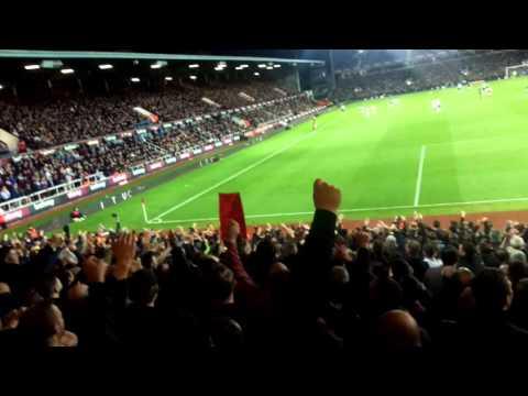 WHU VS MUFC away end singing. Que sera sera
