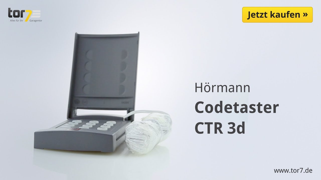 h rmann codetaster ctr 3d youtube. Black Bedroom Furniture Sets. Home Design Ideas