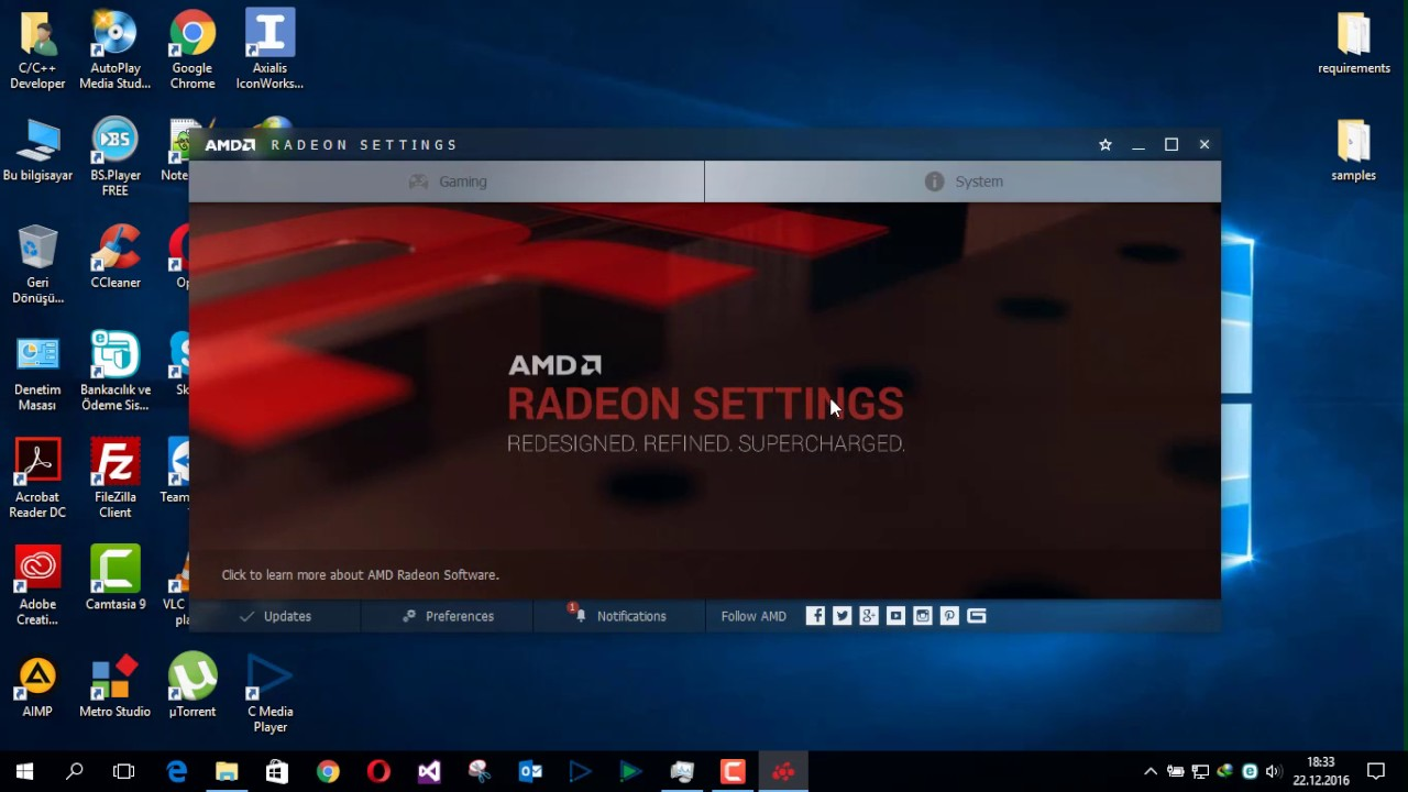 How do I get better performance on AMD Radeon Settings