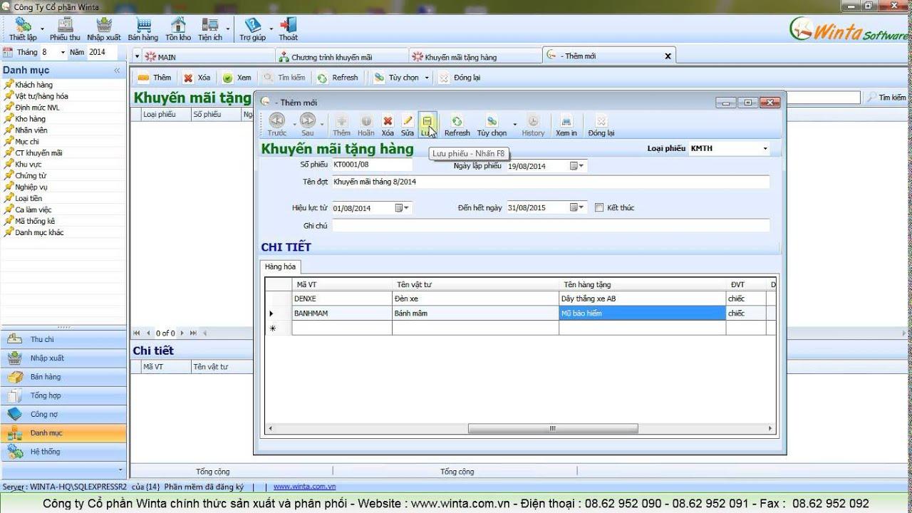 Phần mềm bán hàng miễn phí Winta Sales