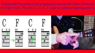 Guitar C F C F Short F Chord Practice
