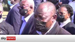 South Africa: President Cyril Ramaphosa says violence designed to 'destroy democracy'