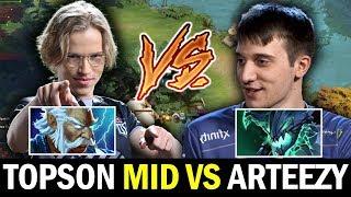 TOPSON mid vs ARTEEZY — Ethereal Blade Zeus vs Try Hard OD Dota2
