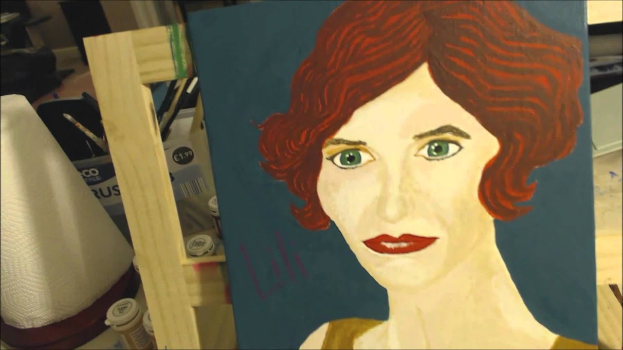 A Painting Of Eddie Redmayne As The Danish Girl