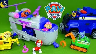 Paw Patrol Ultimate Rescue Helicopter Sky Air Rescue Mighty Pups Toys COOL Toy Unboxing Video!