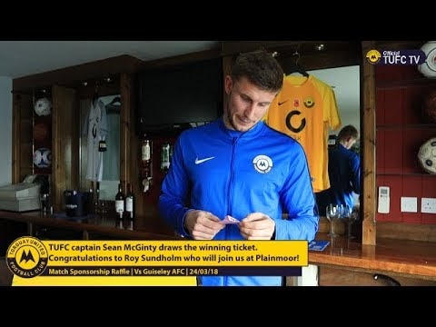 Official TUFC TV | Sean McGinty Draws Guiseley Match Sponsorship Raffle 05/03/18