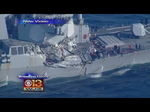 Navy Ship Collides With Merchant Ship Off Japan