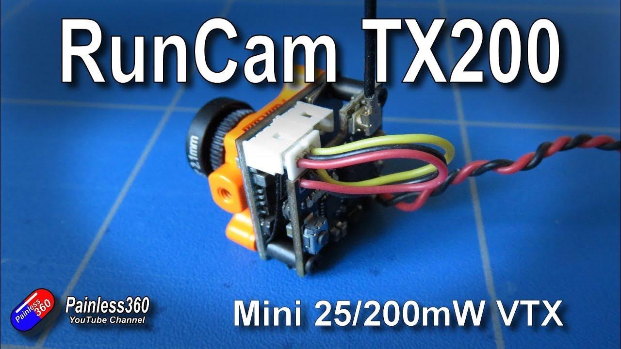 runcam micro fpv video transmitter tx200