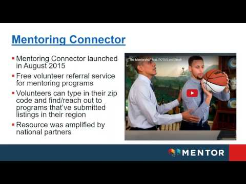 Mentoring Connector Program Administrator Training