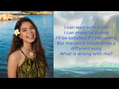 Auli'i Cravalho - How Far I'll Go (Lyrics Video) - Moana Lyrics