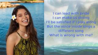 Auli'i Cravalho How Far I'll Go Lyrics Video Moana Lyrics
