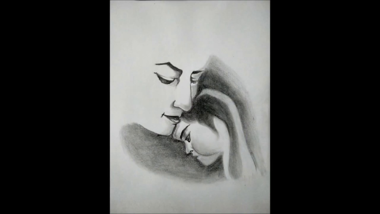 Pencil sketch of mothers love
