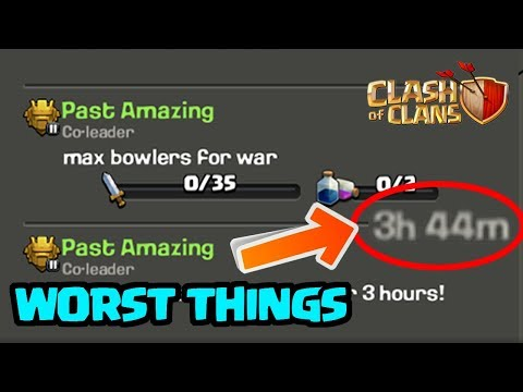 5 WORST Things To Happen During A Clan War In Clash Of Clans