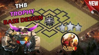BEST Town Hall 8 (TH8) TROPHY Base 2018!! CLASH OF CLANS INDONESIA