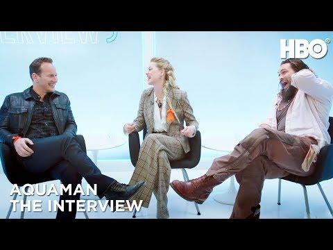 'Aquaman' Interview w/ Jason Momoa, Amber Heard & Patrick Wilson