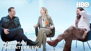 'Aquaman' Interview w/ Jason Momoa, Amber Heard & Patrick Wilson