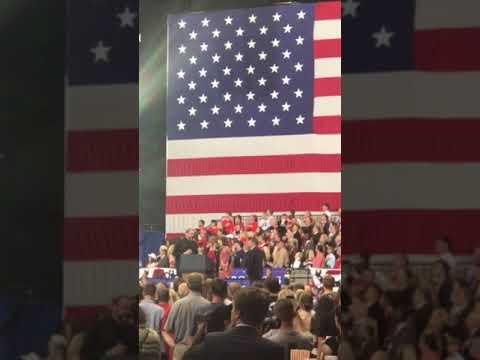 Isaacs singing the National Anthem