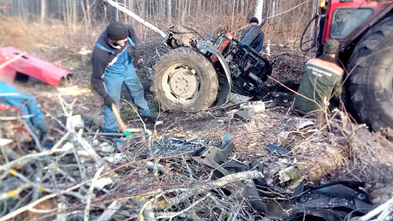 Порвали МТЗ-82 как бумагу на 2 части! Ремонт в лесу.