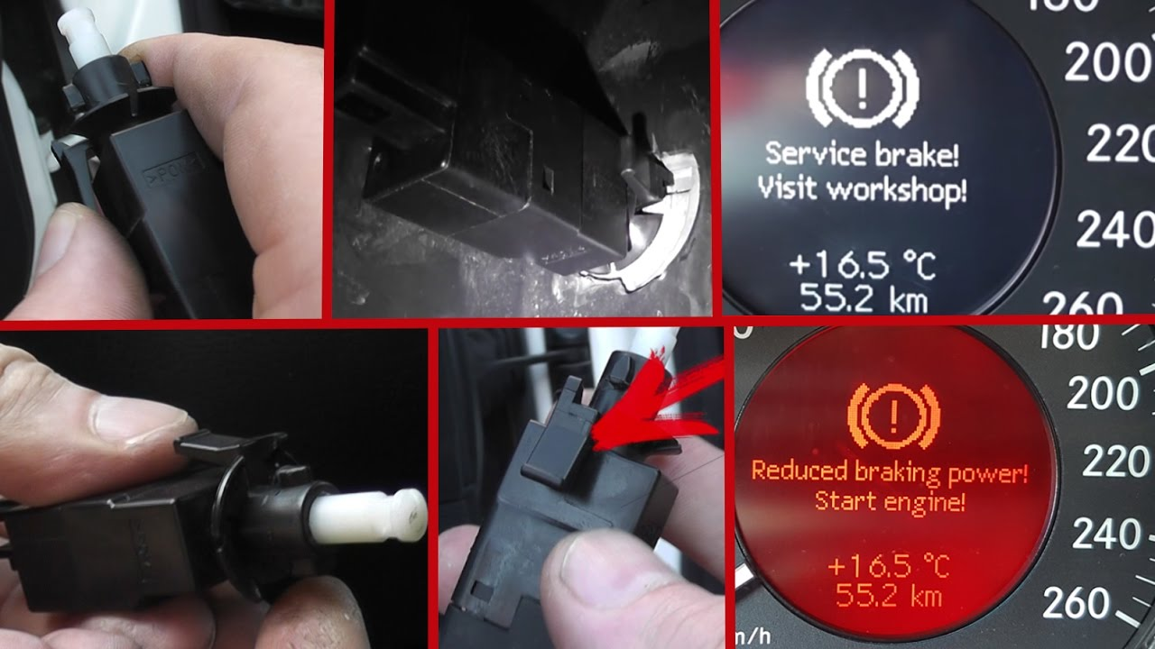 replacing the brake light switch mercedes w211 w19 how to change the brake light switch on w211 [ 1280 x 720 Pixel ]