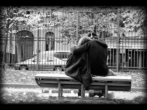 """""""Les amoureux des bancs publics"""" (avec paroles) - Georges Brassens"""