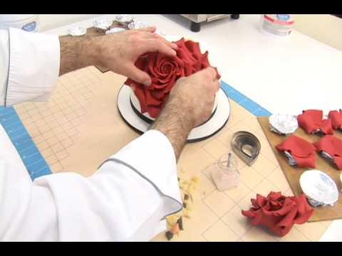 Red Rose Petal Cake
