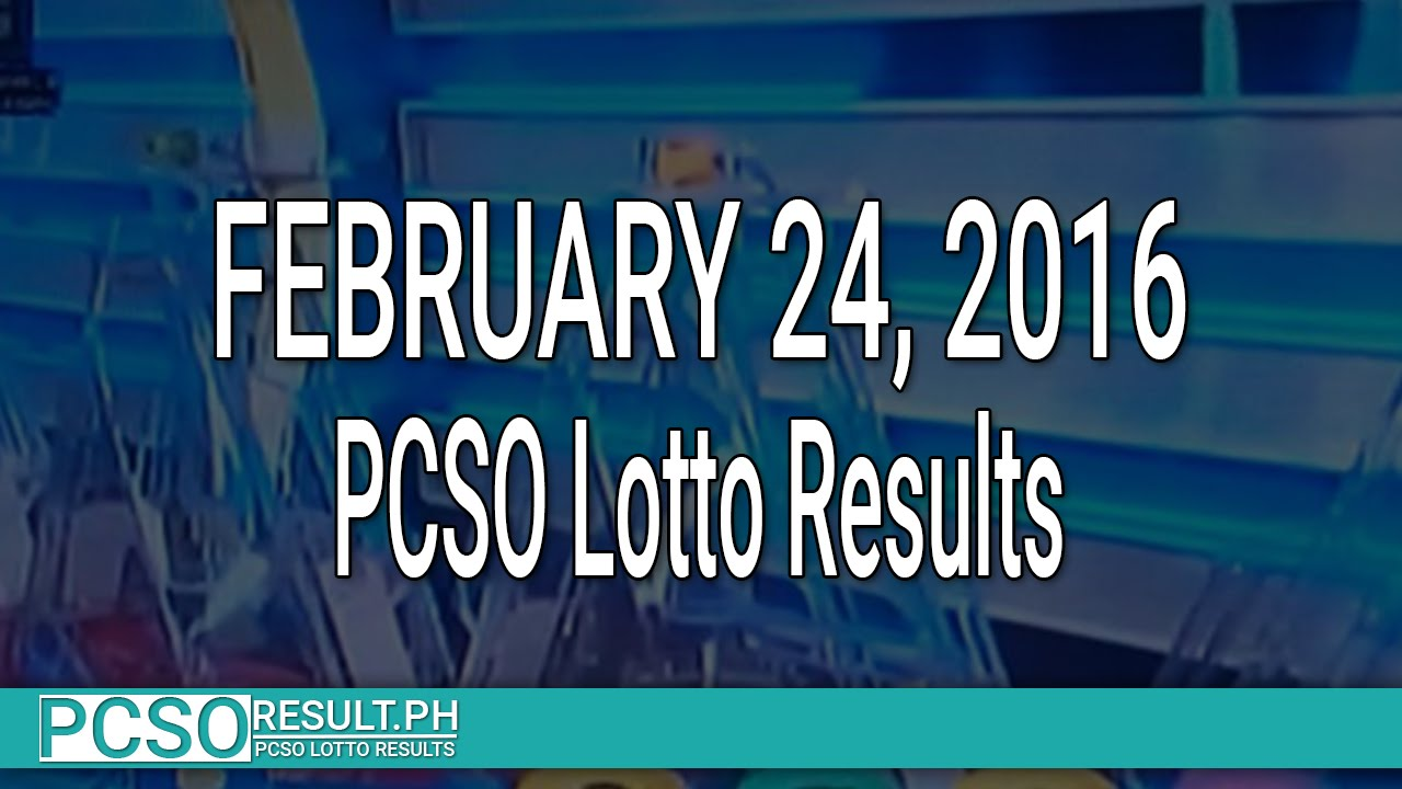 PCSO Lotto Results February 24, 2016 (6/55, 6/45, 4D, Swertres & EZ2) - YouTube