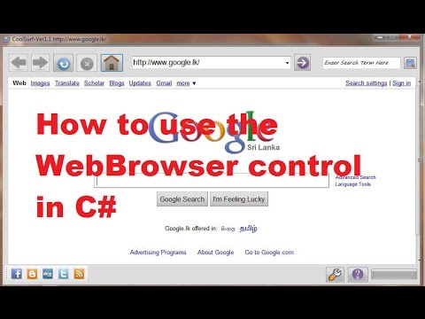 How to use the WebBrowser control in C#