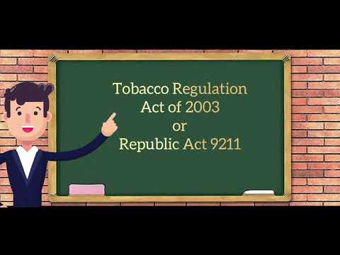 TOBACCO REGULATION ACT OF 2003 (RA 9211)
