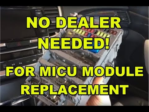2015 honda or acura micu module (fuse box) replacement without programming  by the dealer  how to? - youtube