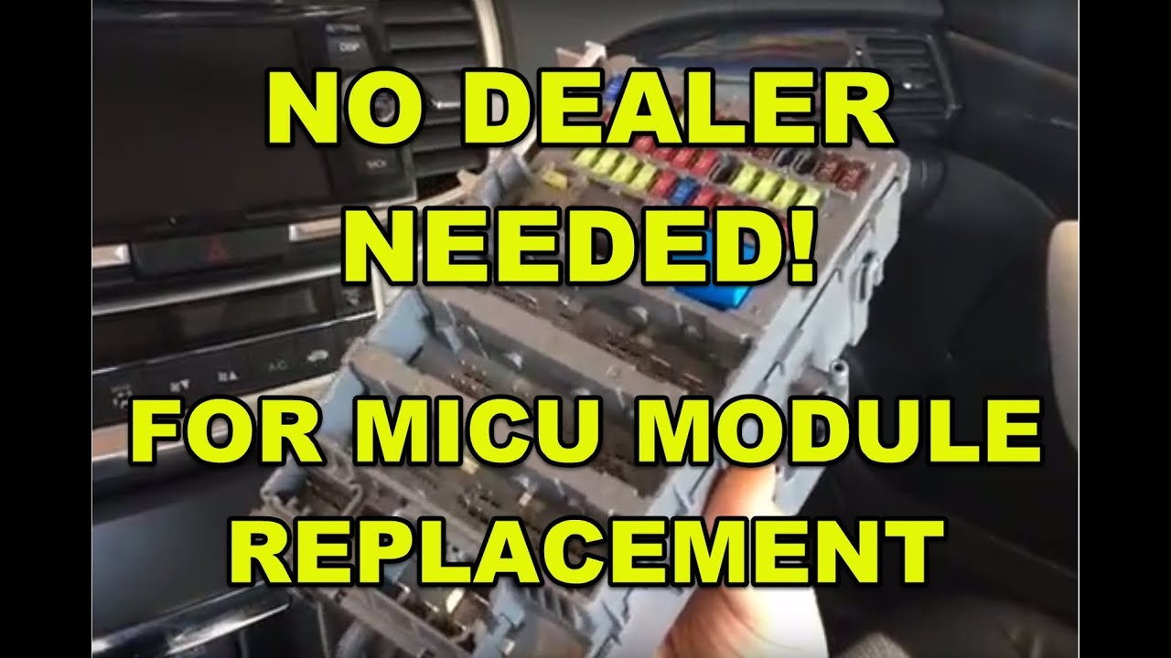 2015 honda or acura micu module fuse box replacement without programming by the dealer how to  [ 1280 x 720 Pixel ]
