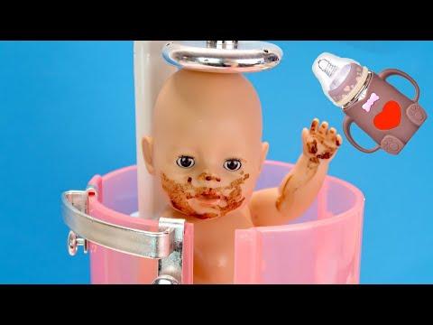 Какао для Беби Бон Как Мама Мыла Куклу в Душе и Готовила Мультики для детей 108мама тв